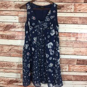 Jason Wu For Target Dress Size M Blue Floral Shift